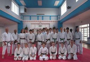 Wado Ryu Karate UK National squad training in Farnham