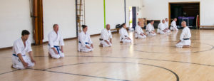 Wado-Ryu Karate dojo class at Farnham, Surrey