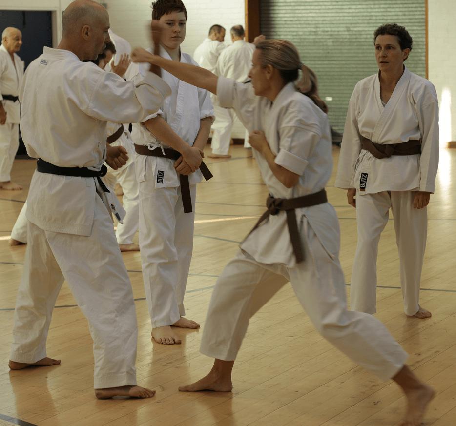 Ladies karate classes at Guildford, Aldershot, Haslemere and Farnham